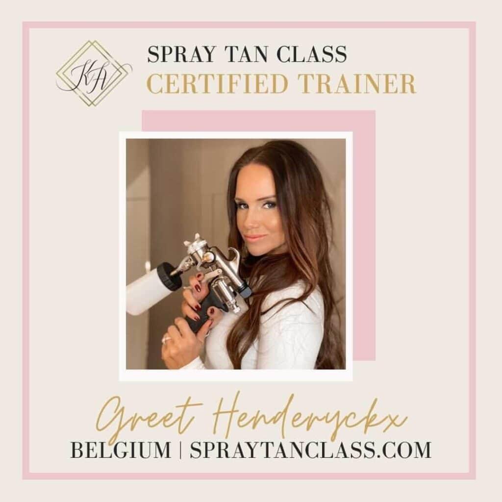 Spray Tan Certified Trainer