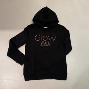 Glow Hoodie Zwart Bitch