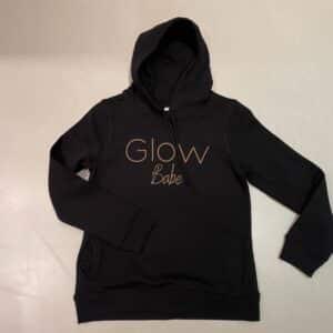 Glow Hoodie Zwart Babe