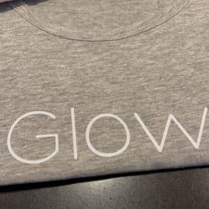 Glow tank Grijs Glow Babe Glitter logo