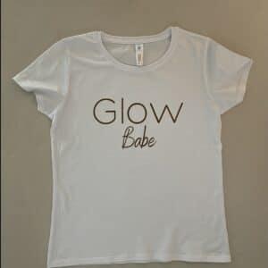 Glow t-shirt Wit Glow Babe