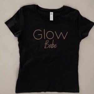 Glow t-shirt Zwart Glow Babe
