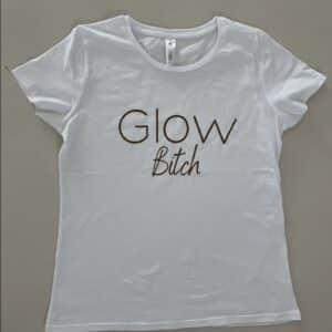 Glow t-shirt Wit Glow Bitch