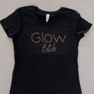 Glow t-shirt Zwart Glow Bitch