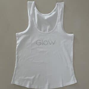 Glow tank Wit Glow Babe Glitter logo